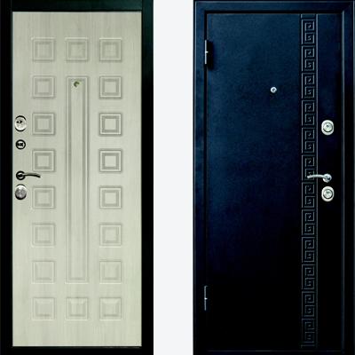 узкая металлическая входная дверь